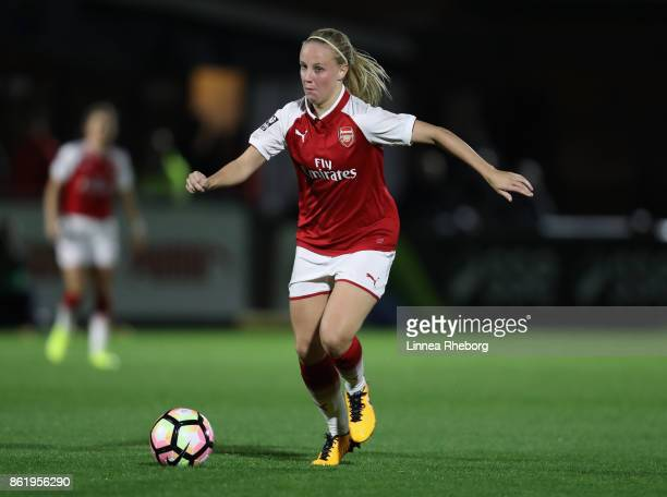 Beth Mead of Arsenal in action during the FA WSL Continental Cup match between Arsenal and London Bees on October 12 2017 in Borehamwood United...