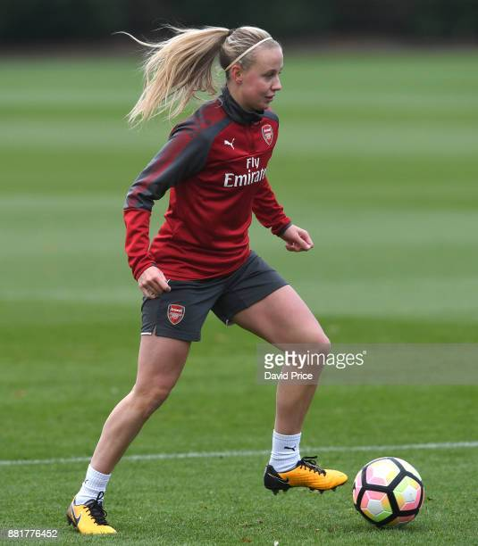 Beth Mead of Arsenal Women during the Arsenal Womens Training Session at London Colney on November 29 2017 in St Albans England