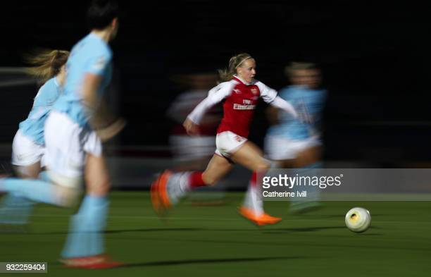 Beth Mead of Arsenal Women during the WSL Continental Cup Final between Arsenal Women and Manchester City Ladies at Adams Park on March 14 2018 in...