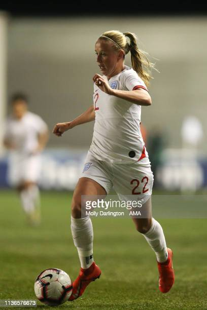 Beth Mead of England during the International Friendly between England Women and Spain Women at County Ground on April 9 2019 in Swindon England