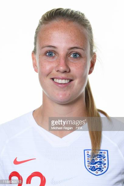 Beth Mead of England poses for a portrait during the official FIFA Women's World Cup 2019 portrait session at Radisson Blu Hotel Nice on June 06 2019...