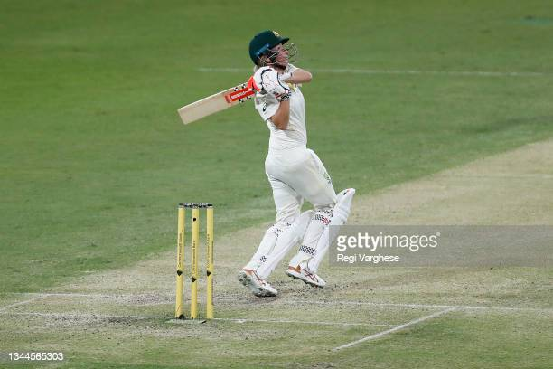 Beth Mooney of Australia during day four of the Women's International Test Match between Australia and India at Metricon Stadium on October 03, 2021...