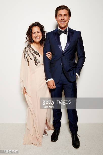 Beth Morgan and Chris Lowell attend the 21st Costume Designers Guild Awards x Getty Images Portrait Studio presented by LG V40 ThinQ on February 19...