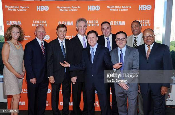Beth Mowins, Sean McDonough, Marv Albert, James Freedman, Bob Costas, Bill Roth, Ian Eagle, Don McPherson and Mike Tirico attend Syracuse University...