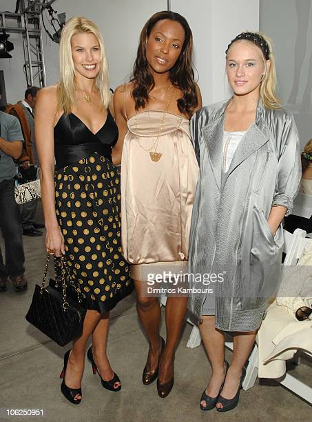 Beth Ostrosky Aisha Tyler and Leven Rambin during MercedesBenz Fashion Week Fall 2007 Malandrino Front Row and Backstage at Chelsea Art Museum in New...