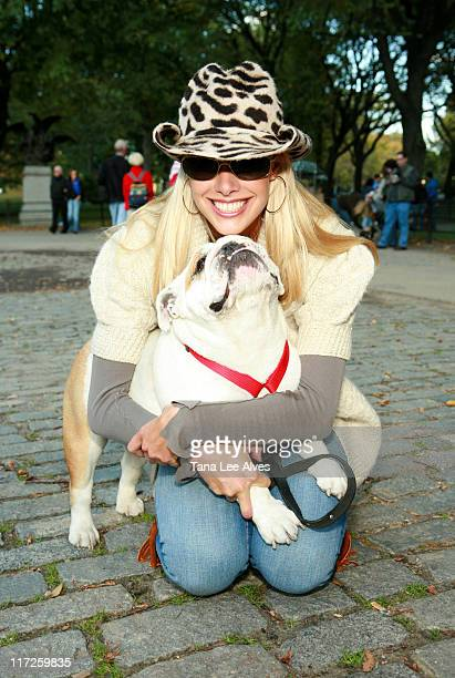 Beth Ostrosky and Bianca during Fifth Annual My Dog Loves Central Park Country Fair New York City October 14 2006 at Central Park in New York City...