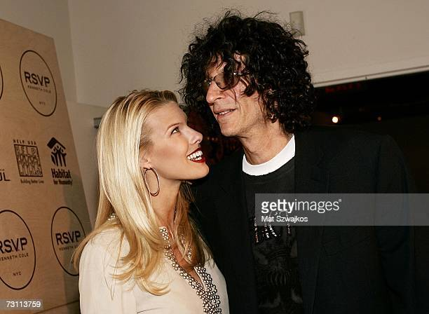 "Beth Ostrosky and Howard Stern attend Kenneth Cole's ""R.S.V.P. To HELP"" benefit hosted by Kenneth Cole and Jon Bon Jovi at the Tribeca Rooftop on..."