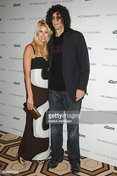 Beth Ostrosky and Howard Stern attend THE CINEMA SOCIETY and LINDA WELLS host a screening of MARGOT AT THE WEDDING at Tribeca Grand Hotel on November...