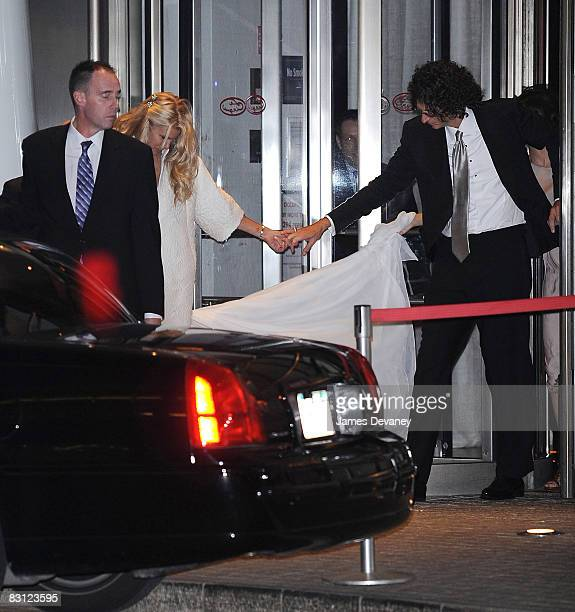 Beth Ostrosky and Howard Stern depart Le Cirque after their wedding on October 3 2008 in New York City