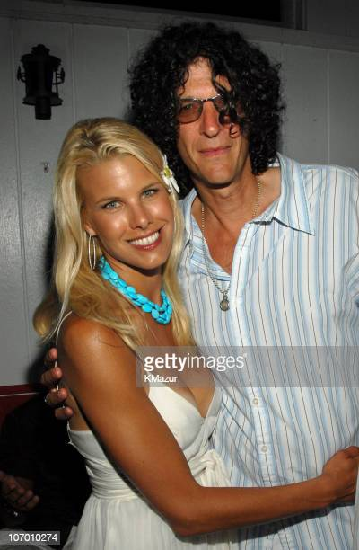 Beth Ostrosky and Howard Stern during Hampton Magazine Celebrates Beth Ostrosky's Birthday July 15 2006 at Star Room in Wainscott New York United...