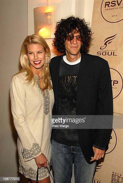 Beth Ostrosky and Howard Stern during Kenneth Cole's R.S.V.P to HELP Hosted by Jon Bon Jovi and Kenneth Cole - Arrivals at Soho Grand and Tribeca...