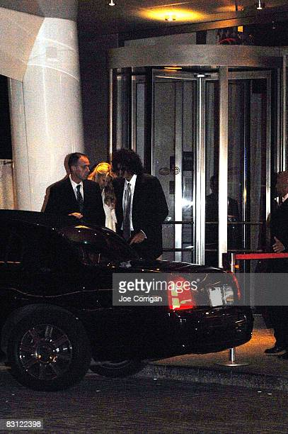 Beth Ostrosky and Howard Stern leave their wedding at Le Cirque on October 3, 2008 in New York City.