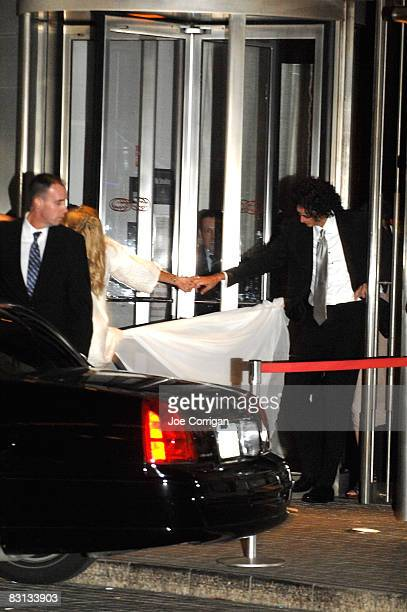 Beth Ostrosky and Howard Stern leave their wedding reception at Le Cirque on October 3 2008 in New York City