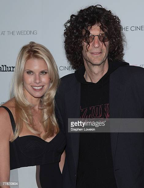 Beth Ostrosky and radio personality Howard Stern attends a screening of Margot At The Wedding hosted by The Cinema Society and Linda Wells at The...
