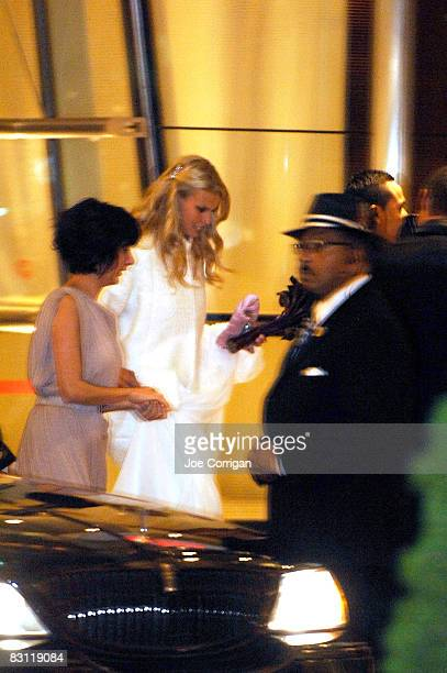 Beth Ostrosky arrives at her wedding ceremony at Le Cirque on October 3 2008 in New York City