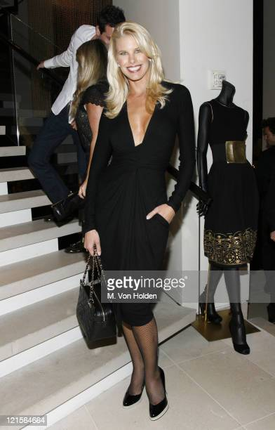 Beth Ostrosky during Donna Karan Gold Fragrance Collection Launch Party at Donna Karan Flagship in New York City New York United States