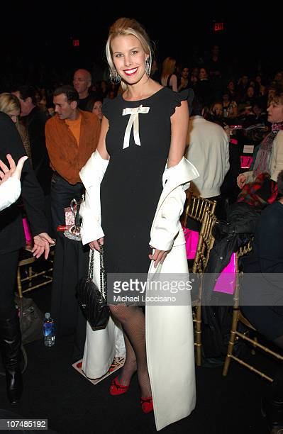 Beth Ostrosky during Mercedes Benz Fashion Week Fall 2007 Betsey Johnson Front Row and Backstage at The Tent Bryant Park in New York City New York...