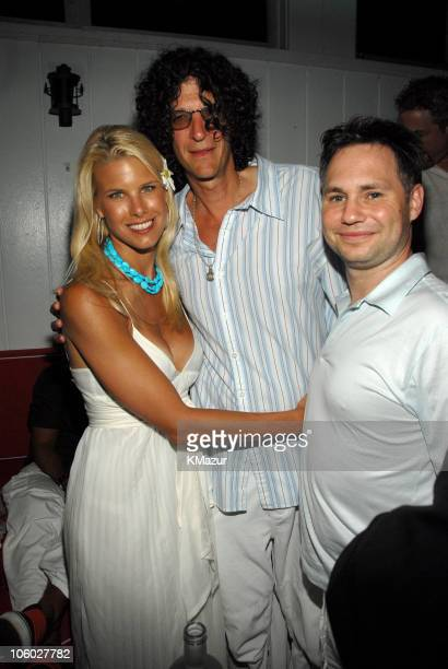 Beth Ostrosky Howard Stern and Jason Binn during Hampton Magazine Celebrates Beth Ostrosky's Birthday July 15 2006 at Star Room in Wainscott New York...