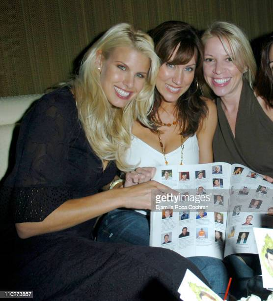 Beth Ostrosky Melissa Zapin and Betsy Polley during Gotham Magazine Celebrates the Bachelor Issue October 11 2005 at Marquee in New York City New...