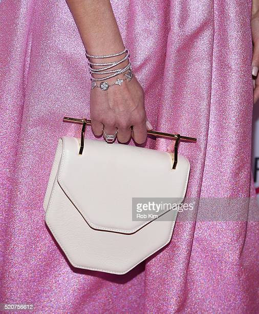 Beth Ostrosky Stern clutch detail attends 2016 Breast Cancer Research Foundation Hot Pink Party at The Waldorf=Astoria on April 12 2016 in New York...