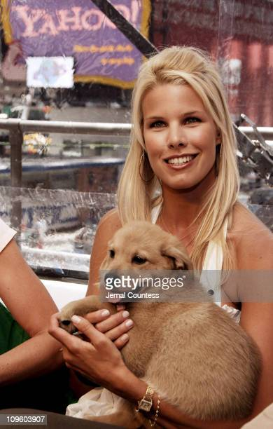 Beth Ostrosky with a puppy from the North Shore Animal League in the Brain at the Launch of Yahoo Answers 2006