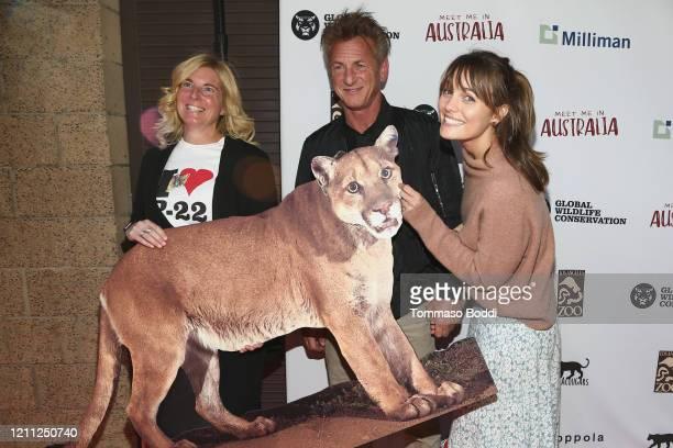 "Beth Pratt, Sean Penn and Leila George attend The Greater Los Angeles Zoo Association Hosts ""Meet Me In Australia"" To Benefit Australia Wildfire..."