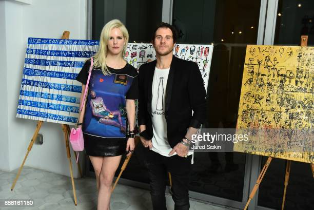 Beth Redmond and Gregory Siff attend 4AM Presents Crash This A Private Exhibition Of New Paintings By Gregory Siff at Soho House Miami on December 7...