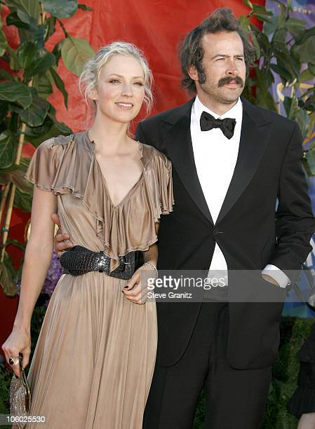 Beth Riesgraf and Jason Lee during 58th Annual Primetime Emmy Awards Arrivals at Shrine Auditorium in Los Angeles California United States