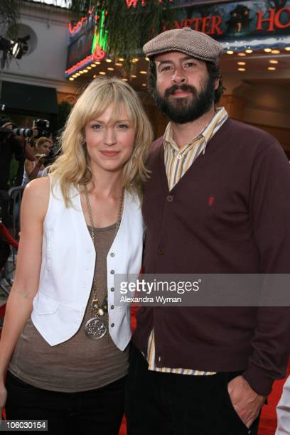 Beth Riesgraf and Jason Lee during Monster House Los Angeles Premiere Red Carpet at Mann Village in Westwood California United States