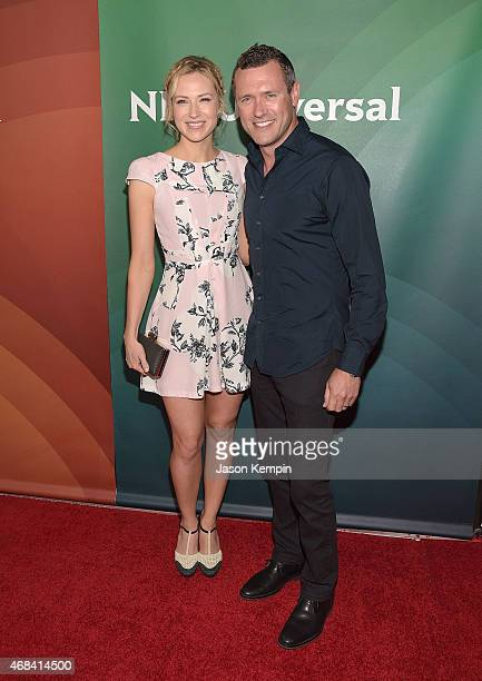 Beth Riesgraf and Jason O'Mara attend the 2015 NBCUniversal Summer Press Day at the Langham Hotel on April 2 2015 in Pasadena California