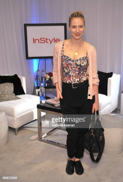 Beth Riesgraf appears at day two of The InStyle Golden Globes Beauty Lounge 2010 at Four Seasons Hotel on January 16 2010 in Beverly Hills California