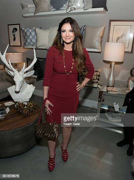 Beth Shak attends the 2015 Zarin Fabrics' holiday party at Zarin Fabrics on December 17 2015 in New York City