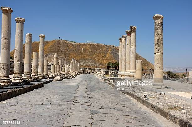 Beth Shean perspective, 'Palladius Street', the 150-meter long colonnade