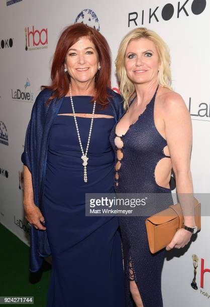 Beth Stavola and guest attend the 4th Hollywood Beauty Awards at Avalon Hollywood on February 25 2018 in Los Angeles California