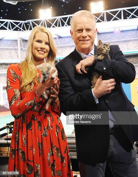 Beth Stern and Boomer Esiason attend Kitten Bowl V on October 4 2017 in New York City