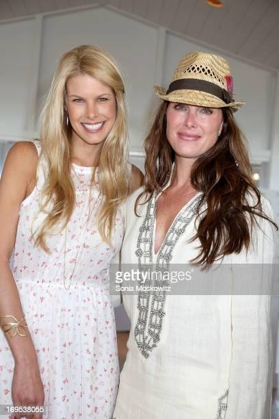 Beth Stern and Brooke Shields attend Haley Jason Binn's Annual DuJour Summer Kick Off Soiree with The Borgata Hotel Casino at Bridgehampton Tennis...