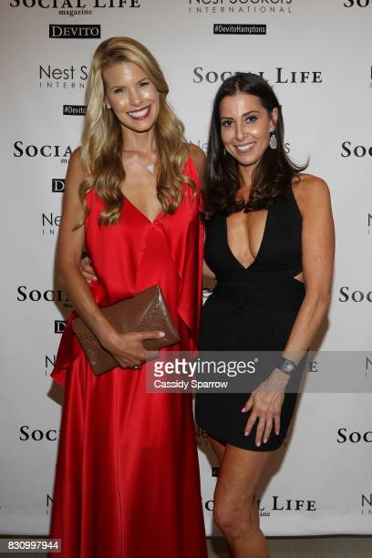 Beth Stern and Christine Montanti attend the Social Life Magazine Nest Seekers August Issue Party on August 12 2017 in Southampton New York