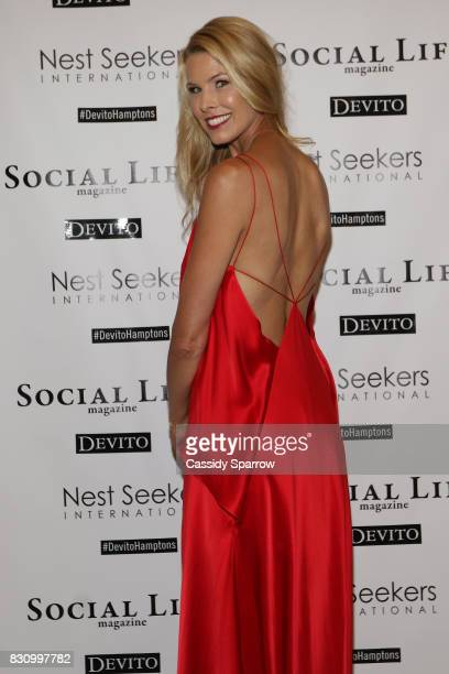 Beth Stern attends the Social Life Magazine Nest Seekers August Issue Party on August 12 2017 in Southampton New York