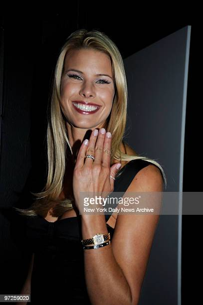 Beth Stern displays her wedding band at the Cinema Society Screening of Madonna's Filth And Wisdom held at the Landmark Sunshine Theater