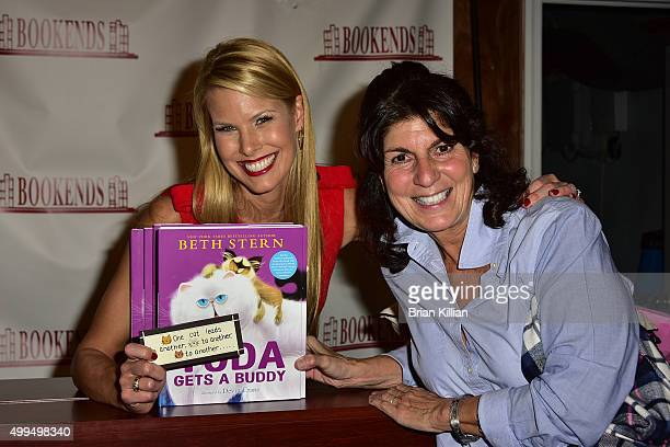 Beth Stern poses with Mariann from Brooklyn during the signing of the new book 'Yoda Gets A Buddy at Bookends Bookstore on December 1 2015 in...