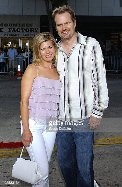 Beth Toussaint and husband Jack Coleman during Red Eye Los Angeles Premiere at Mann Bruin in Westwood California United States