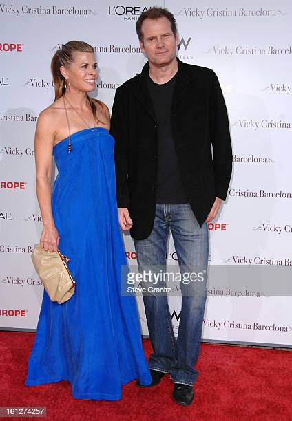 Beth Toussaint and Jack Coleman arrives at The Los Angeles Premiere of Vicky Cristina Barcelona at the Mann Village Theatre on August 4 2008 in...