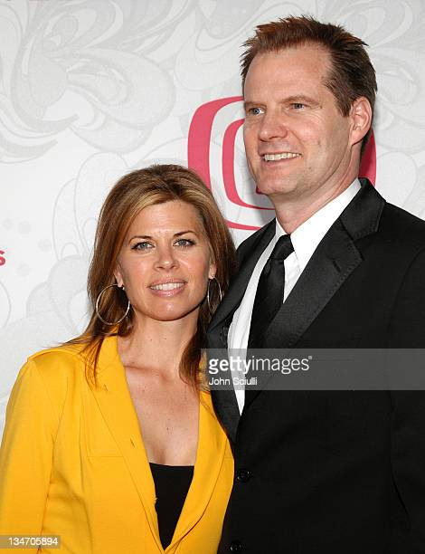 Beth Toussaint and Jack Coleman during 5th Annual TV Land Awards Arrivals at Barker Hanger in Santa Monica CA United States