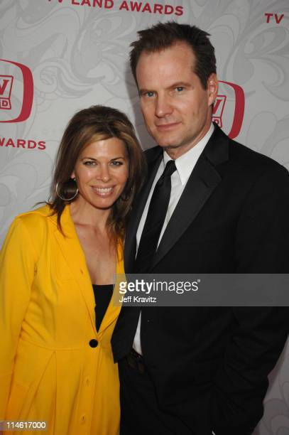 Beth Toussaint and Jack Coleman during 5th Annual TV Land Awards Red Carpet at Barker Hangar in Santa Monica California United States