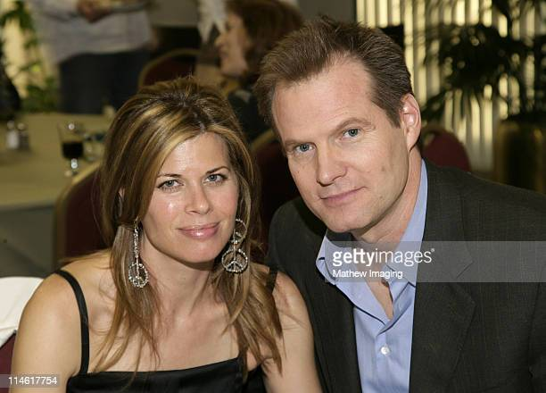 Beth Toussaint and Jack Coleman during The Academy of Television Arts and Sciences Presents An Evening with Heroes VIP Reception at Leonard H...