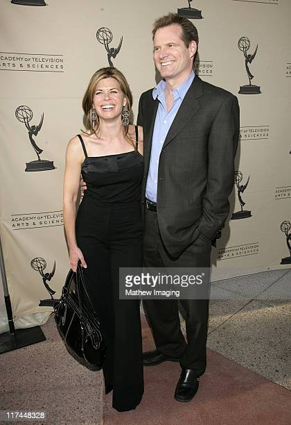 Beth Toussaint and Jack Coleman during The Academy of Television Arts and Sciences Presents An Evening with Heroes Red Carpet at Leonard H Goldenson...