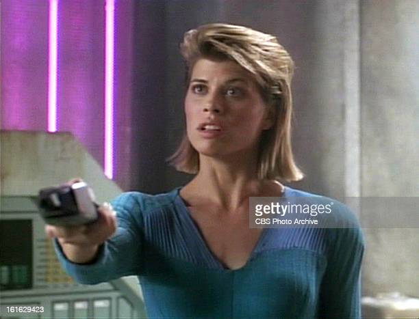 Beth Toussaint as Ishara Yar in the STAR TREK THE NEXT GENERATION episode Legacy Season 4 episode 6 Original air date October 29 1990 Image is a...