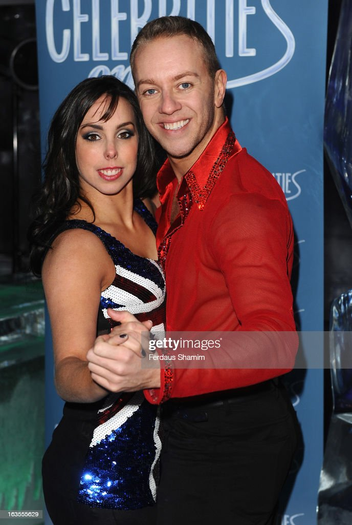 Beth Tweddle and Dan Whiston attend a photocall to announce the tour of Celebrities On Ice at The Ice Bar on March 12, 2013 in London, England.