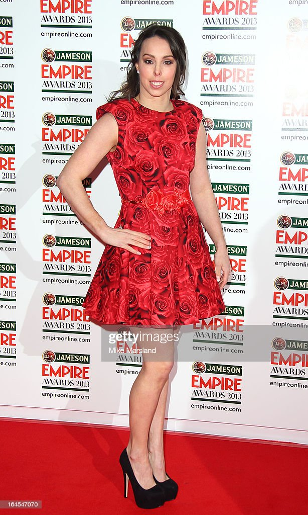 Beth Tweddle attends the 18th Jameson Empire Film Awards at Grosvenor House, on March 24, 2013 in London, England.