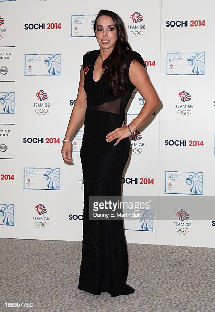 Beth Tweddle attends the British Olympic Ball at The Dorchester on October 30 2013 in London England